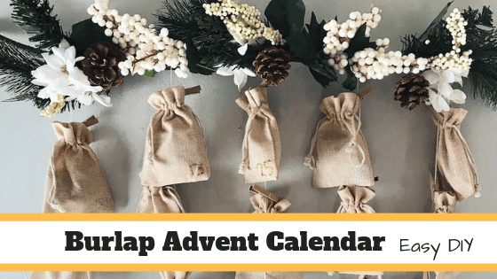 Easy DIY Burlap Advent Calendar
