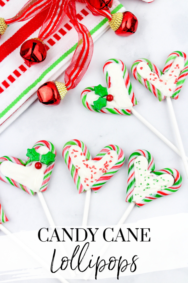 Chocolate Candy Cane Lollipops