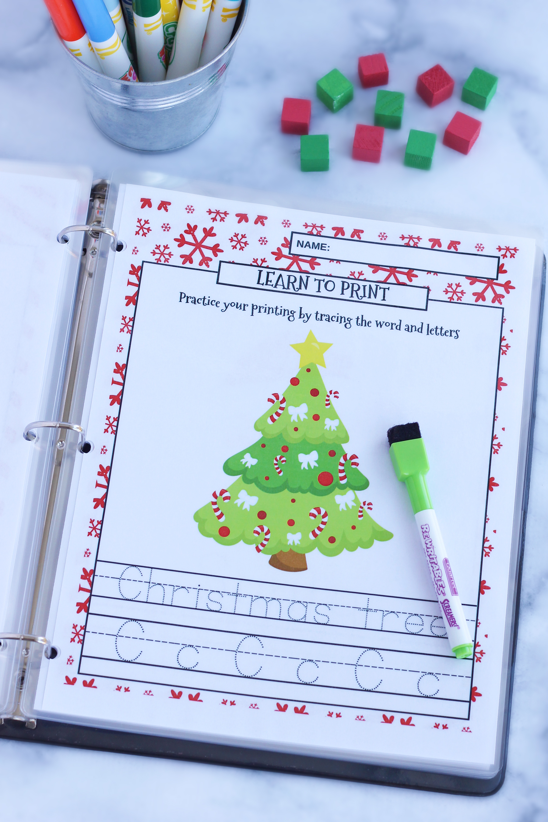 Christmas Themed Learning Package