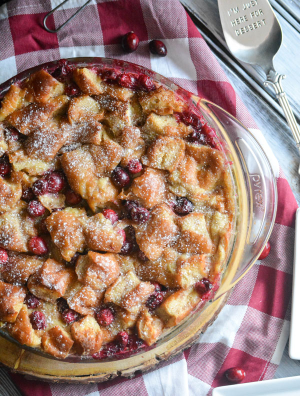 Cranberry Donut Bread Pudding