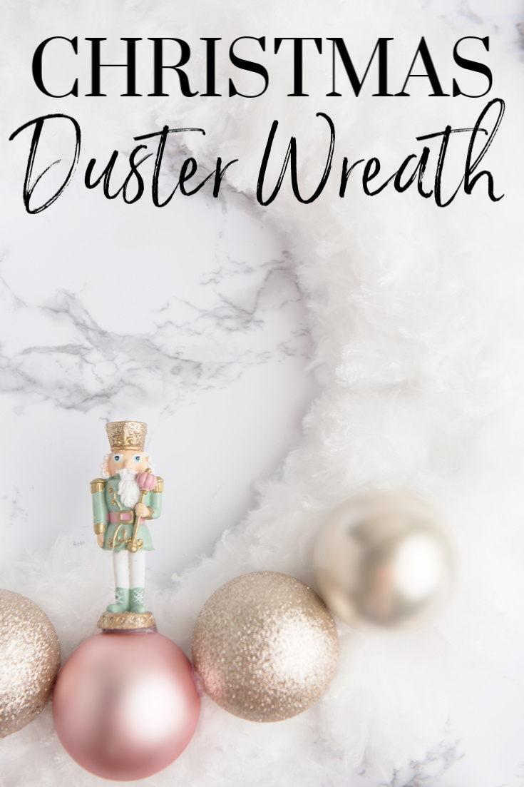 DIY Christmas Duster Wreath