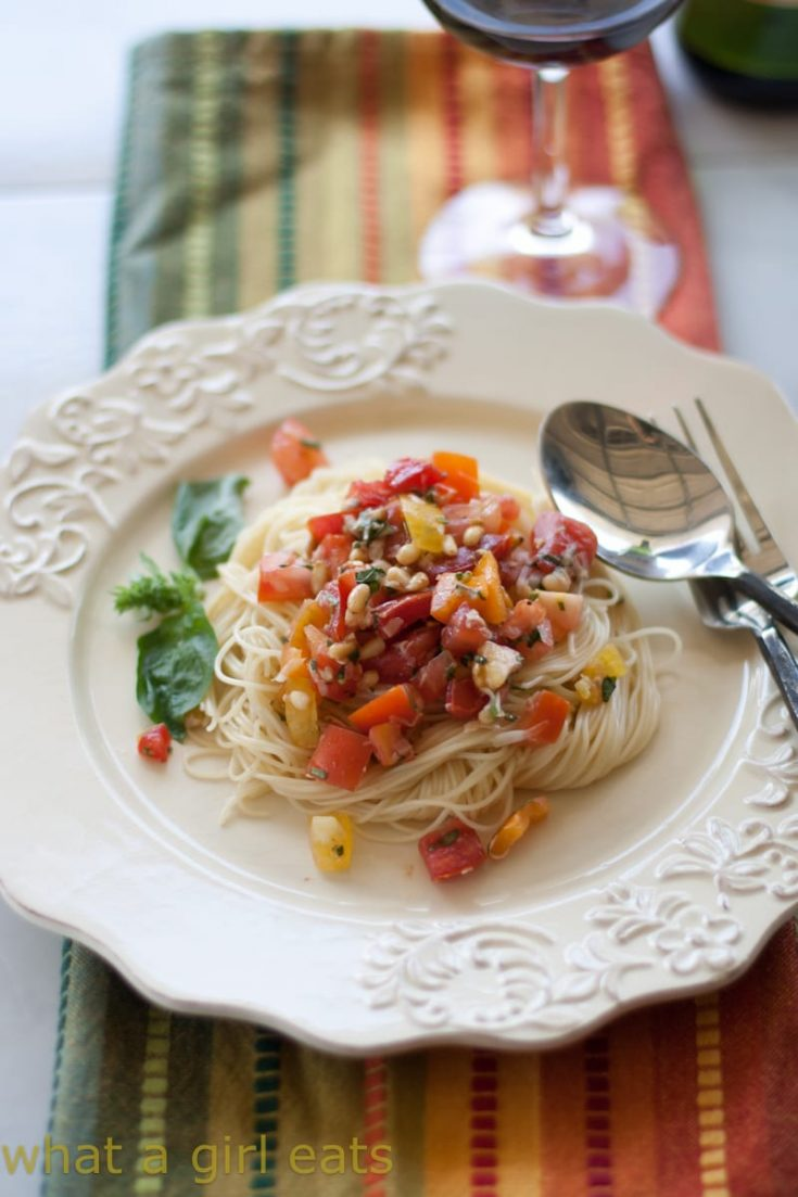 Fresh Tomato Summer Pasta Sauce, Tomato Bruschetta