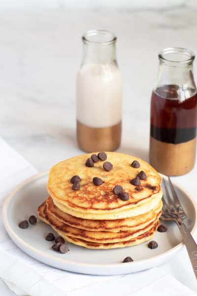 Keto Chocolate Chip Pancakes