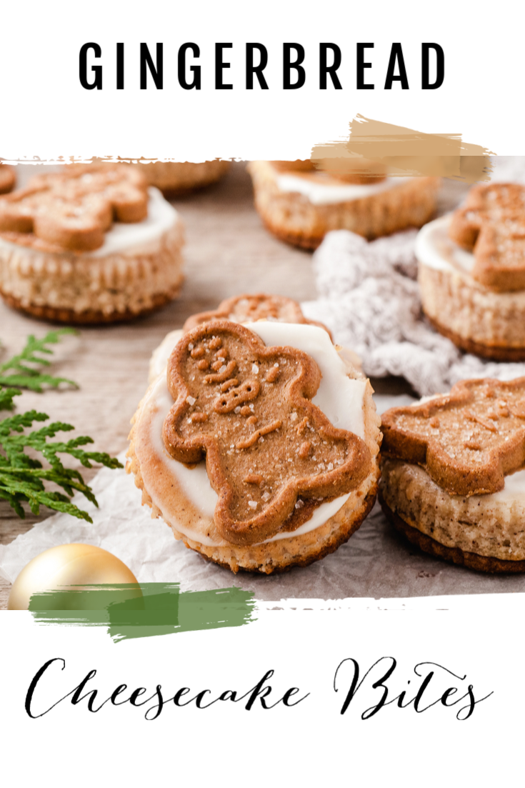 Mini Gingerbread Cheesecake Bites PIN 1