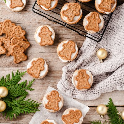 Mini Gingerbread Cheesecake Bites