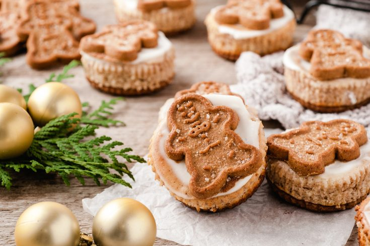 Mini Gingerbread Cheesecake Bites