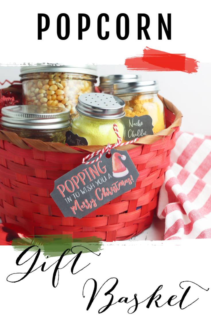 Popcorn Christmas Gift Basket