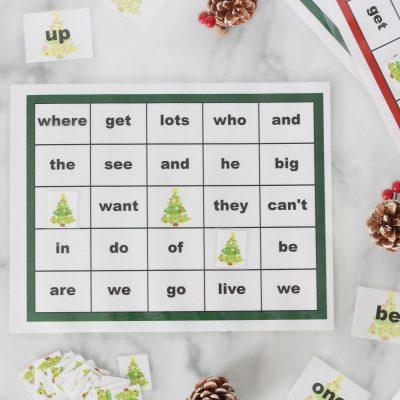 Sight Words Christmas Bingo Printable Package