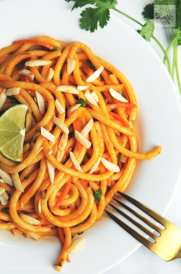 Almond Butter Red Curry Noodles