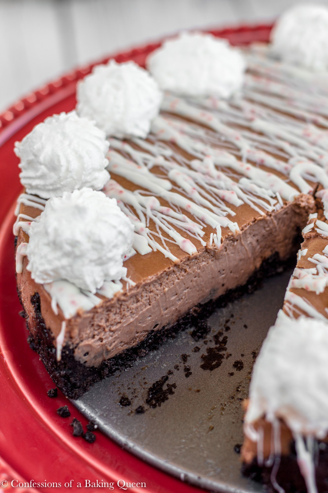 Peppermint Chocolate Cheesecake