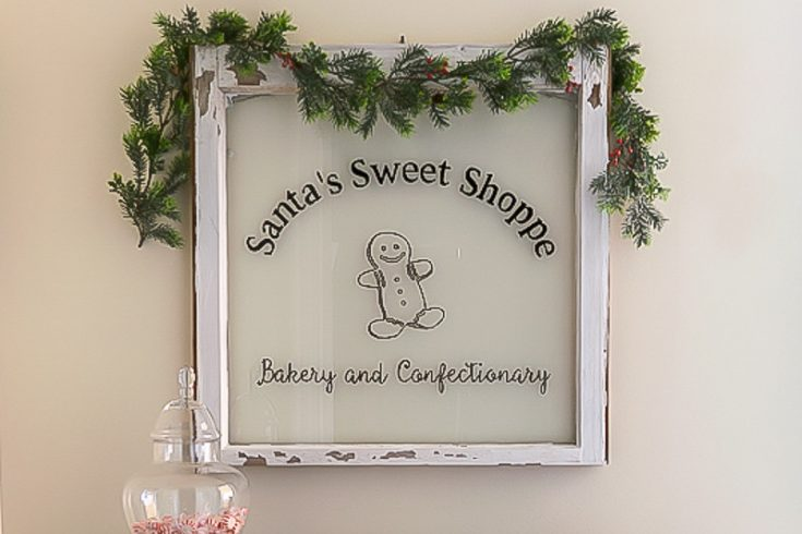 DIY Painted Window: Santa's Sweet Shoppe Bakery