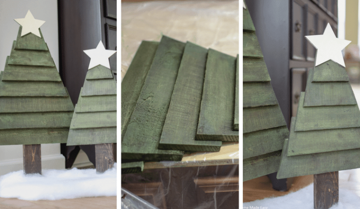 How to Make Easy Pallet Christmas Trees