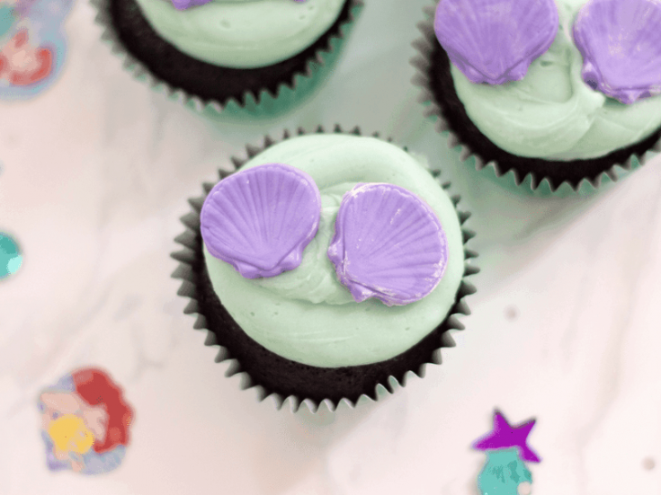 Little Mermaid Inspired Cupcakes