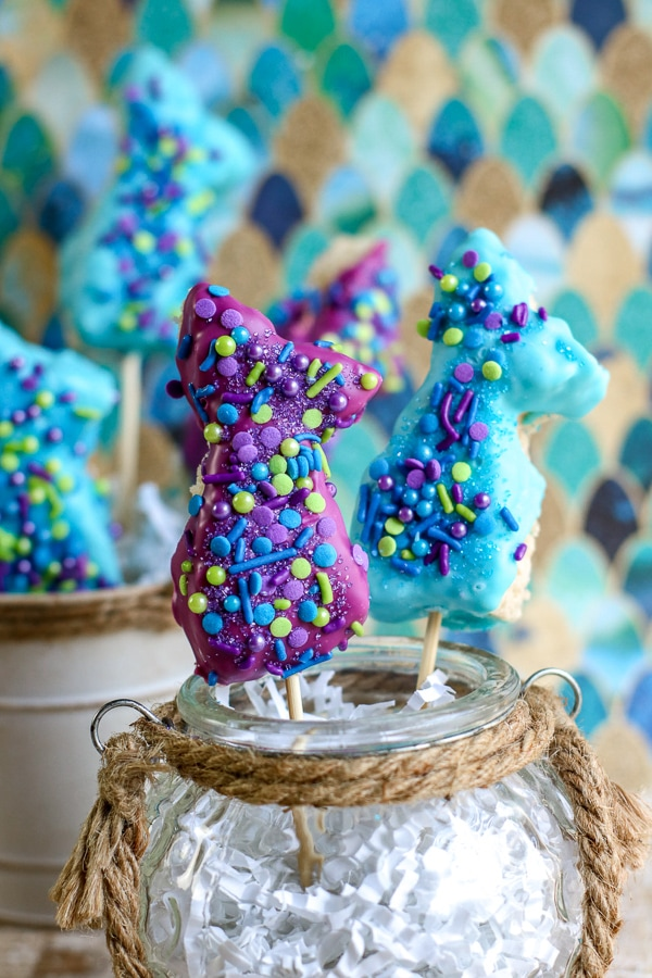 Easy Mermaid Rice Krispie Treats