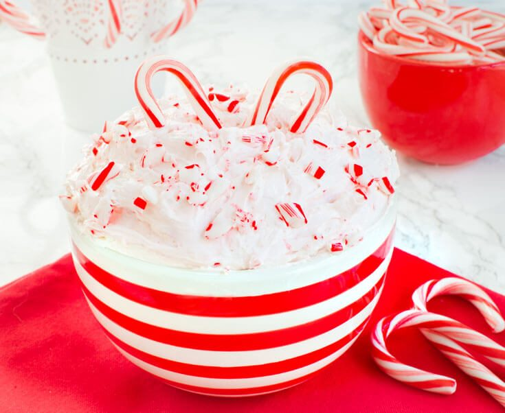 Peppermint Candy Cane Dip