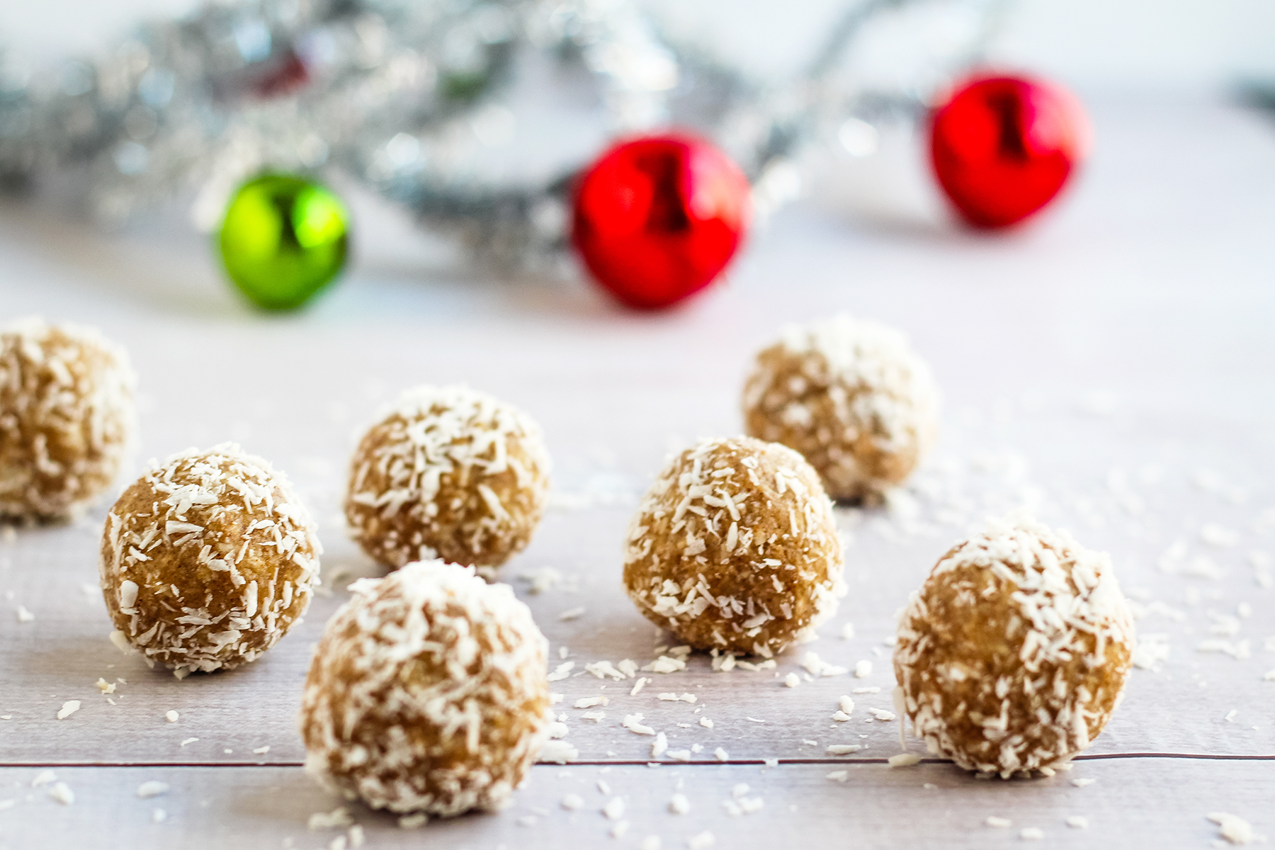 Healthy Snowball Cookies