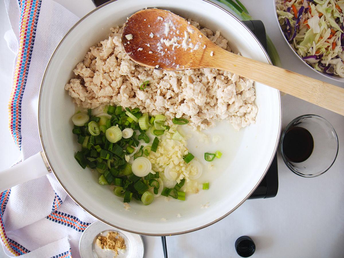 Chicken Egg Roll Bowl