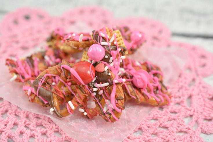 Sweet and Salty Valentine's Day Bark