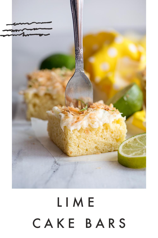 Lime Cake Bars