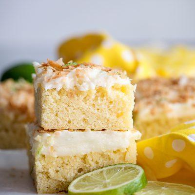 Lime Cake Bars Recipe