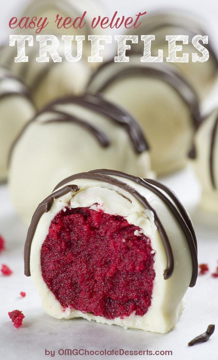 No-Bake Red Velvet Truffles