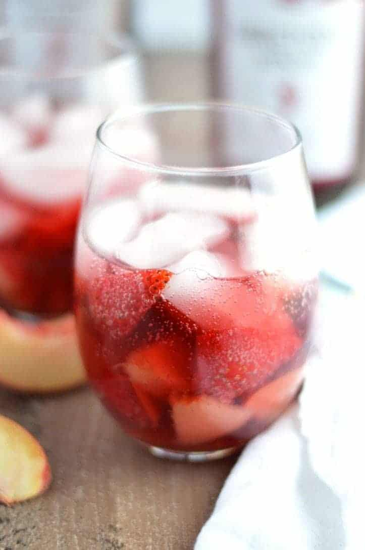 Strawberry Peach Spritzers