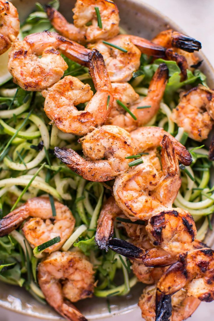 Grilled Chili Lime Shrimp Zoodles