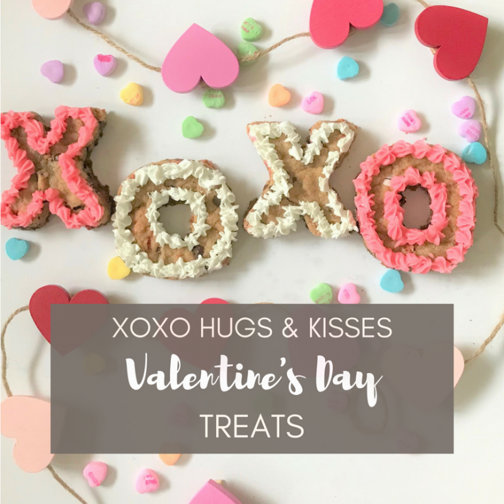 XO Hugs & Kisses Valentines' Day Treats + FREE PRINTABLE Tic Tac Toe Board
