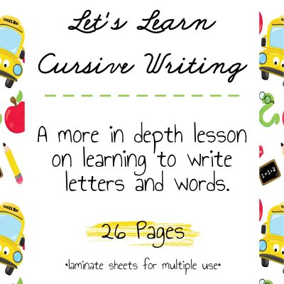 Learning Cursive Writing For Kids
