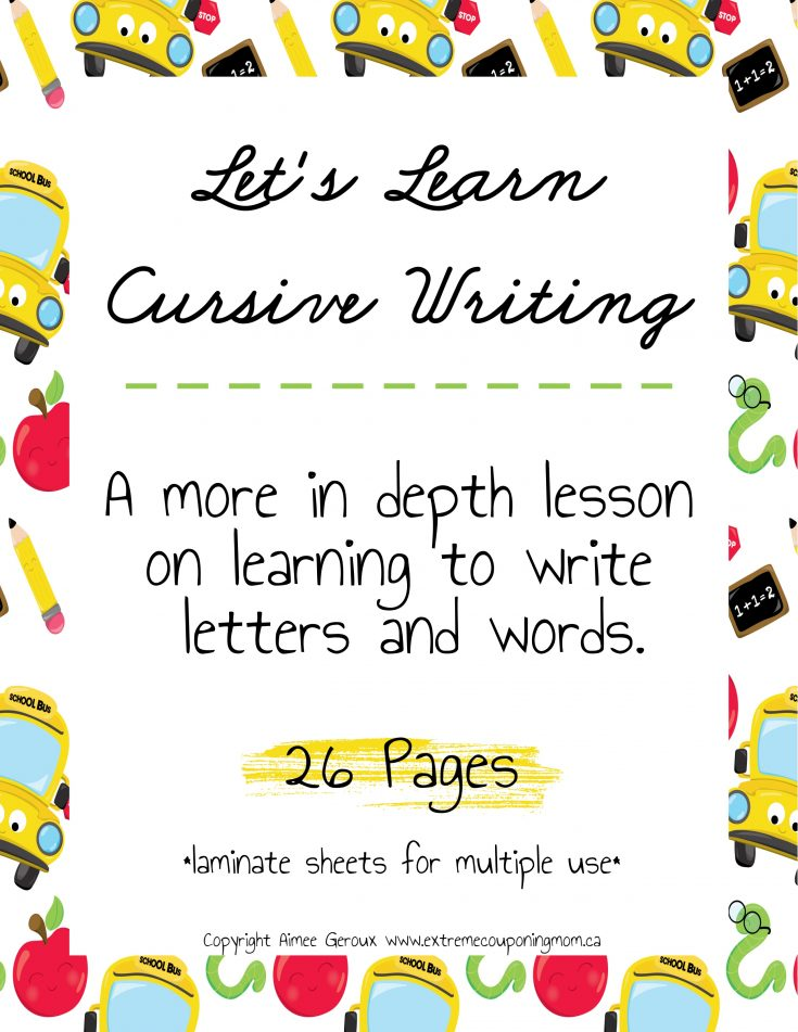 Learning Cursive Writing For Kids (more in-depth)