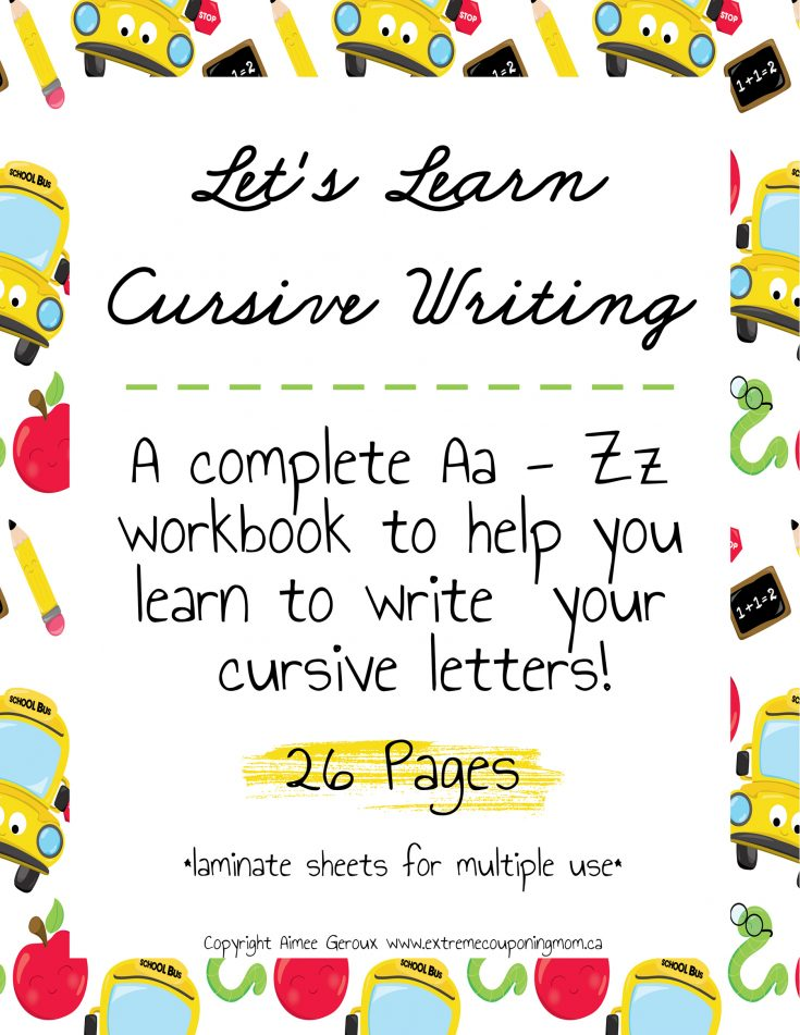 Learning Cursive Writing For Kids A-Z