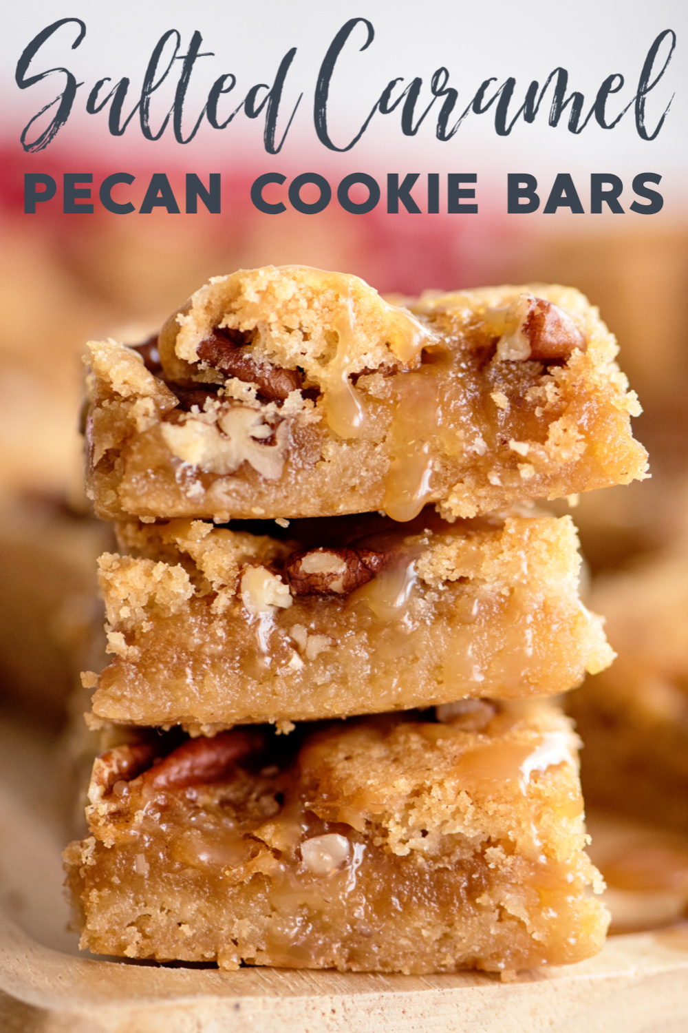 Salted Caramel Pecan Sugar Cookie Bars