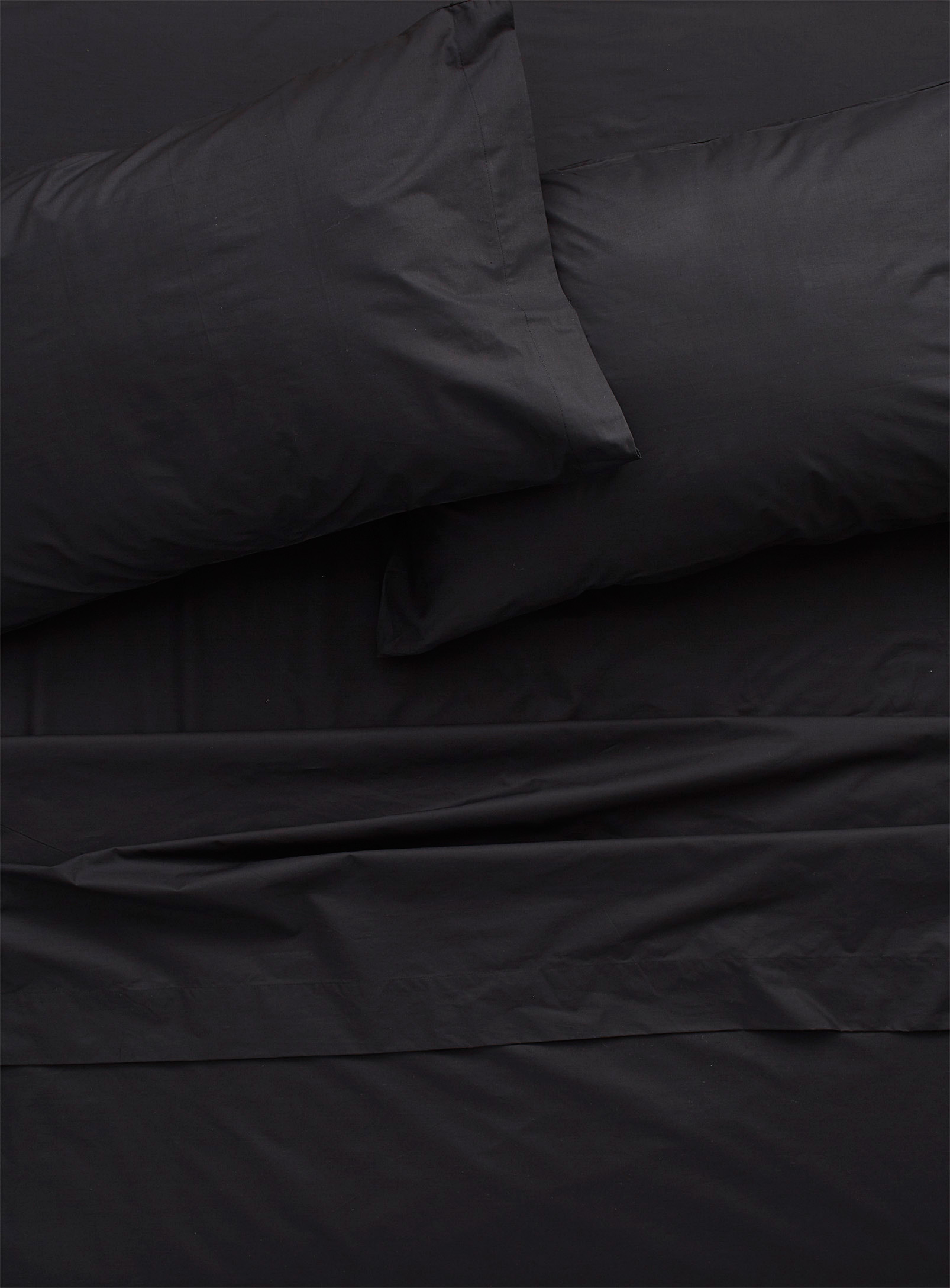 Simons - La Maison Simons Luxurious Percale Bed Sheets Black