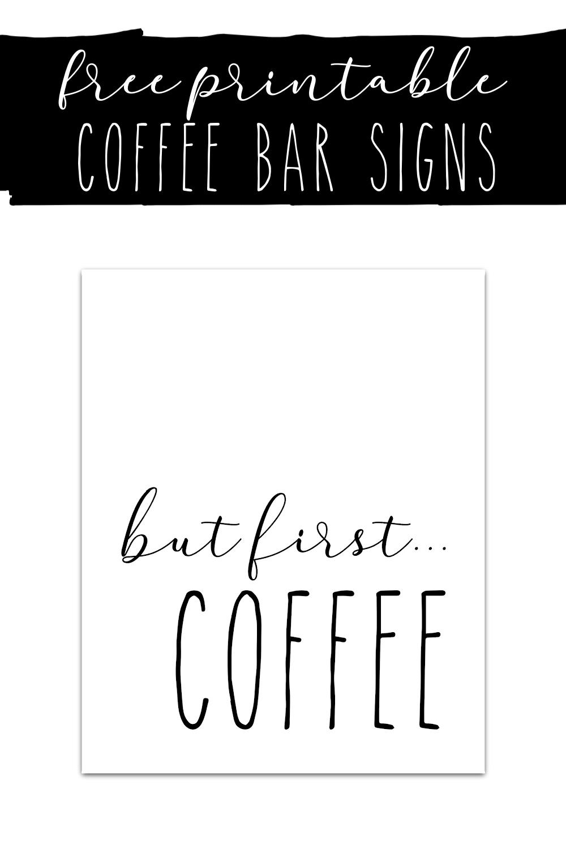 Coffee Bar Signs