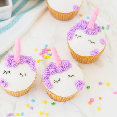 Cute Unicorn Cupcakes Recipe + Decorating Tutorial
