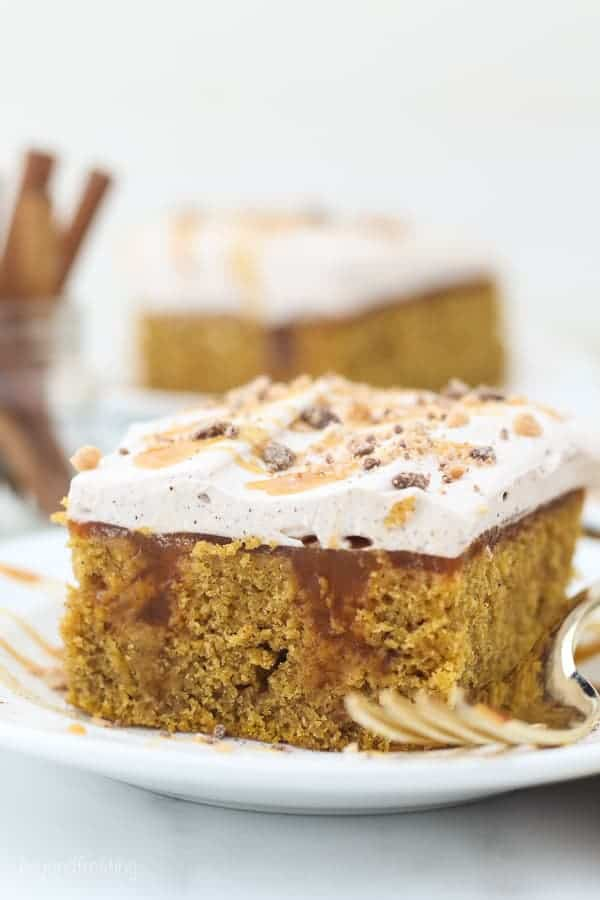 Double Pumpkin Poke Cake