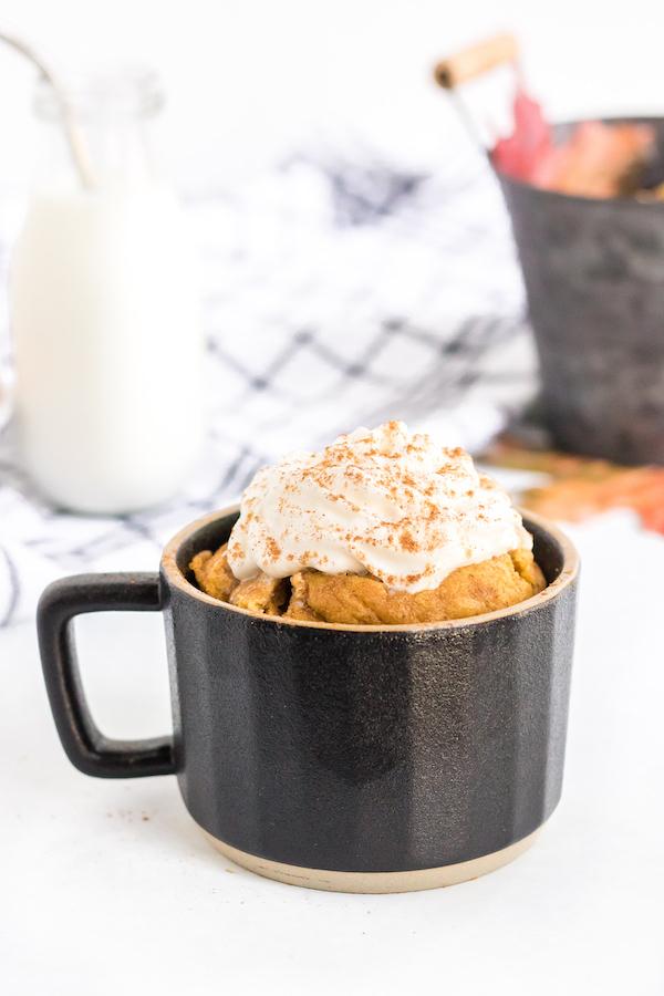Super Easy Keto Pumpkin Mug Cake