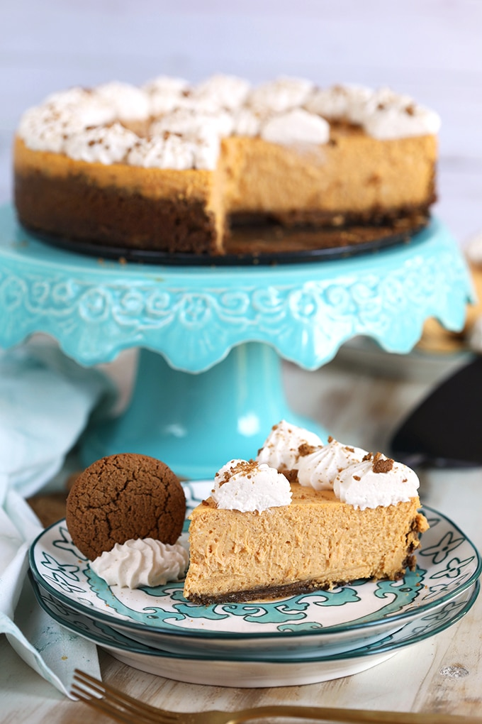 The Very Best Pumpkin Cheesecake with Gingersnap Crust