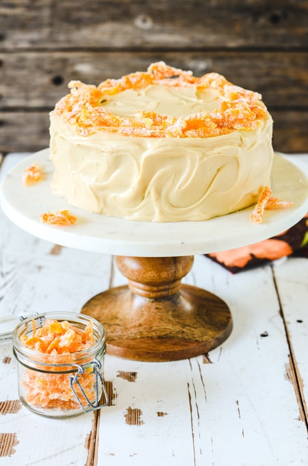 Pumpkin Spice Layer Cake with Caramel Cream Cheese Frosting