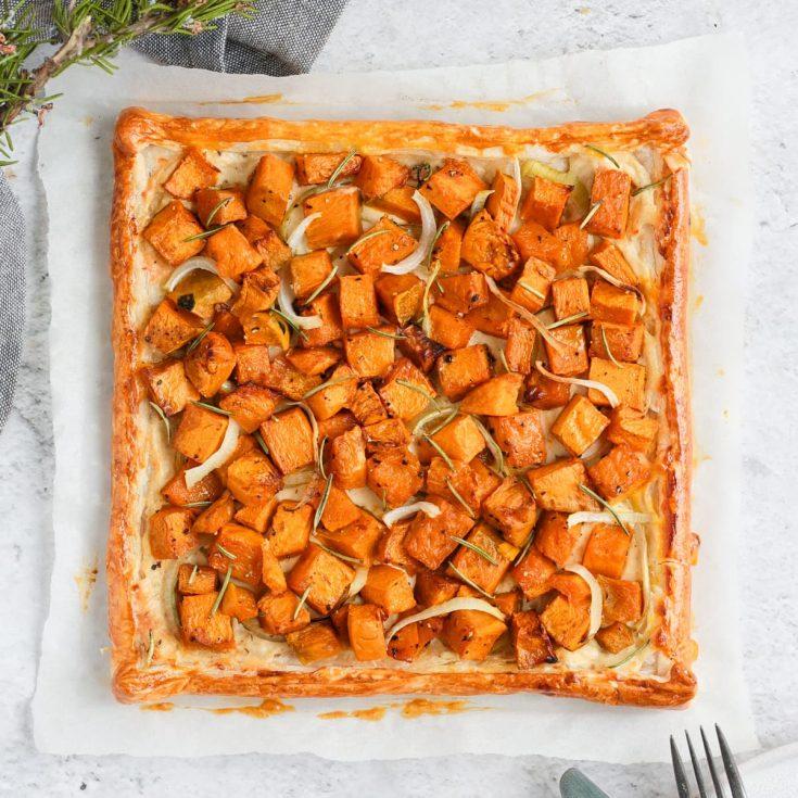 Pumpkin Tart with Ricotta and Onion