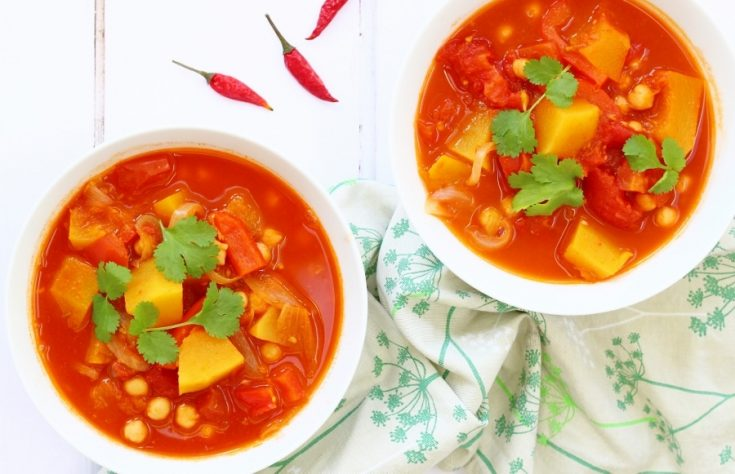 Moroccan Pumpkin Stew with Chickpeas