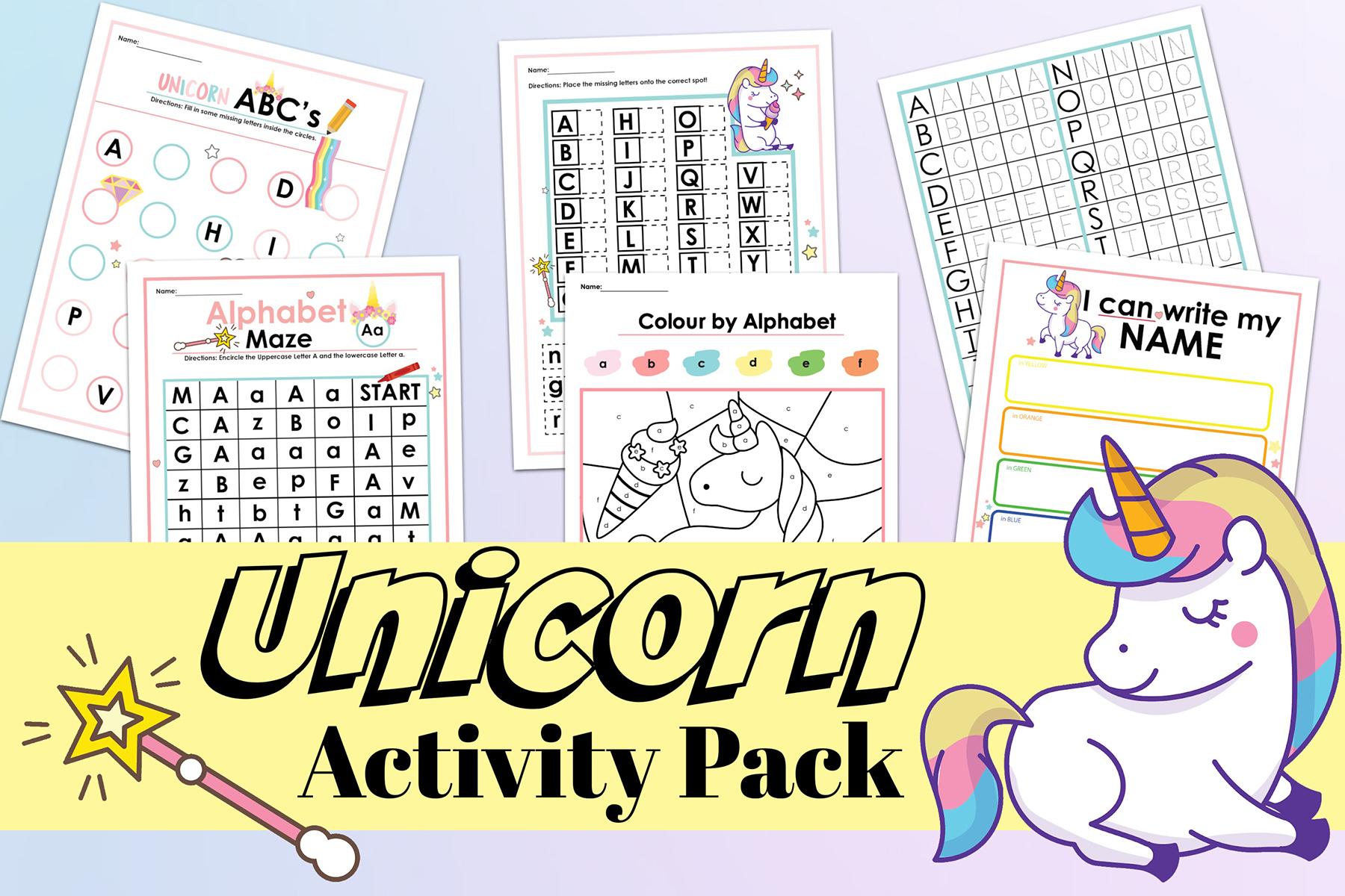 Unicorn Activity Pack