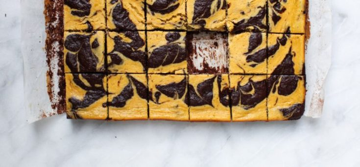 Spiced Pumpkin Cheesecake Brownies (gluten-free)