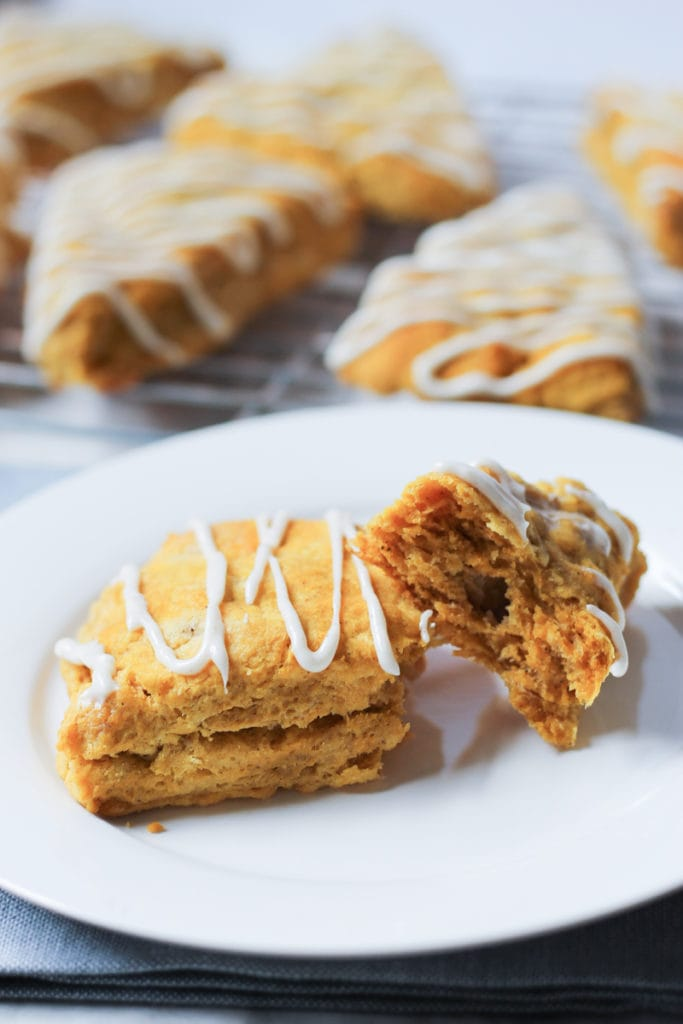 Pumpkin Spice Scone Recipe with Spiced Cream Cheese Frosting