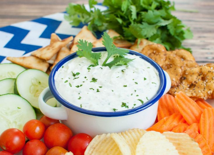 Garlic Dip with Cream Cheese