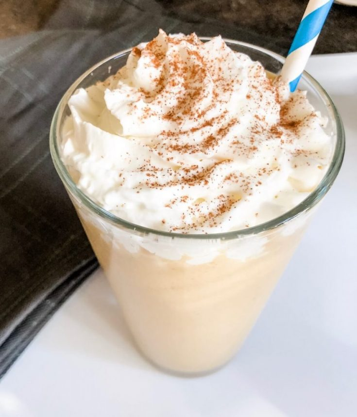 Low Carb Pumpkin Spice Frappuccino Made With Keto Chow