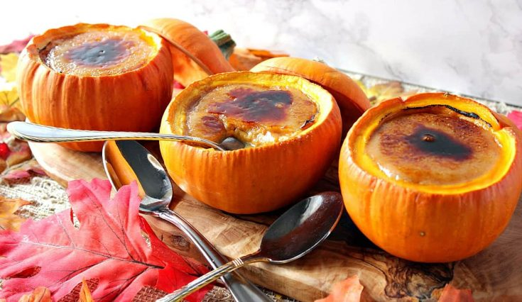 Practically Perfect Rustic Pumpkin Creme Brulee
