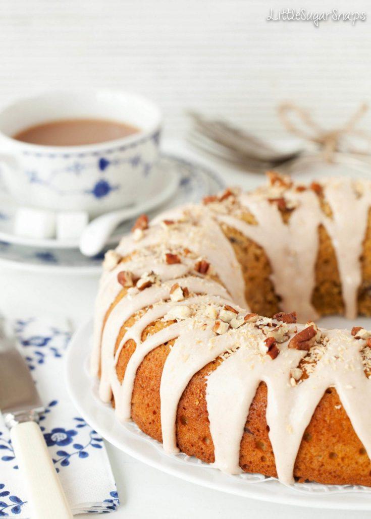 Pumpkin Pecan and Coconut Ring Cake