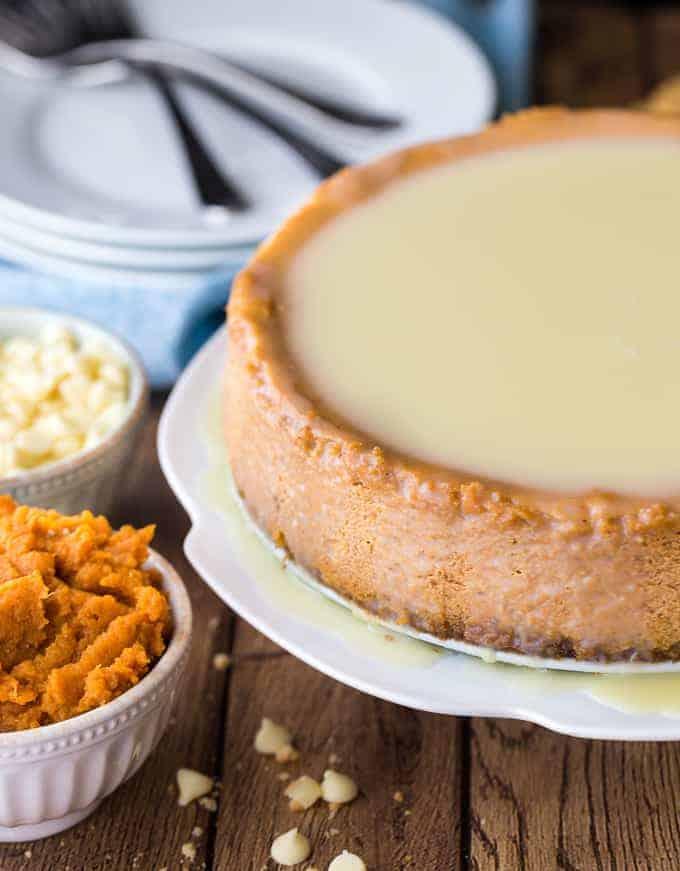 White Chocolate Pumpkin Cheesecake