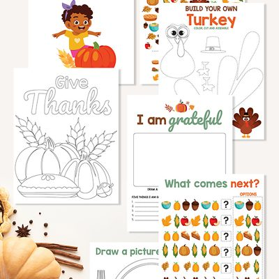 Thanksgiving Activities For Kids – Free Printables